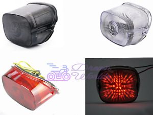 LED Brake Tail Light Turn Signals For 1996-2008 Harley Davidson Smoke Clear Red