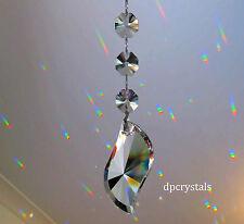 Colector De Sol Colgante Cristal Arco Iris Prisma Feng Shui móvil + Swarovski octagons
