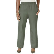 BON WORTH Pants Slacks Womens Size PXL Green Pull On Elastic Waist XLP NWT