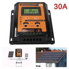 30A Solarregler-Laderegler MPPT 12V/24V Auto USB Dual USB LCD Solarregler