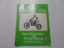 1986 Kawasaki KX60 Race Preparation Tuning Service Manual STAINED FACTORY WORN