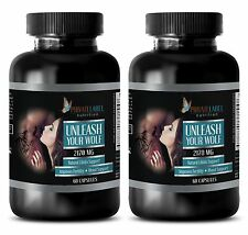 """Unleash Your Wolf"" Male Enhancement. Sexual Drive, Extra Strength (2 Bottles)"