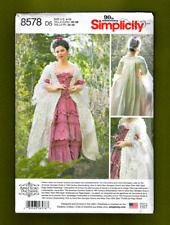 18th Century Full Length Gown & Petticoat Sewing Pattern (4-12) Simplicity 8578