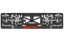 SEAT 2xECHTE 3D-Effekt Kennzeichenhalter, Nummernschildhalter Rot