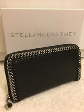 STELLA MCCARTNEY BLACK FALABELLA ZIP-AROUND CONTINENTAL WALLET PURSE BOXED £494