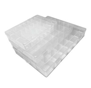Storage Box Hard Plastic Adjustable Compartment Slot Plastic Craft Organizer