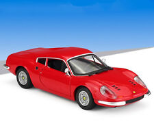Bburago 1:24 Ferrari Dino 246 GT Diecast Metal Model Car Vehicle Red New In Box