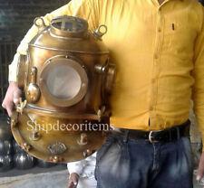 "Antiques Maritime Scuba 18"" Diving Divers Helmet US Navy Deepsea Divers DH#510IA"