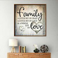 5D DIY Full Drill Diamond Painting Family Love Cross Stitch Embroidery Decor Kit