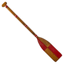 "Red Oar Paddle Kids Coat Rack 47"" Wooden Children's Wall Decor New"
