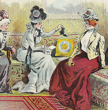 """1800's """"Social Queens"""" F Mayer Boot & Shoe Milwaukee poem Advertising Trade Card"""