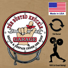 Workshop Bar Stool Busted Knuckle Garage / Full Swivel USA Made