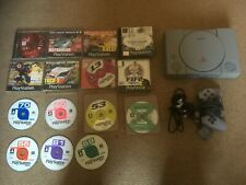 SONY PLAYSTATION 1 PS1 CONSOLE / Tested Working & Controller / 15 GAMES / DEMOS