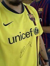 *Autographed by Andres Iniesta* FC Barcelona 2008/2009 Jersey
