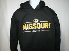 Missouri Tigers Black LS Extra Heavy Hoodie Mens Large **NWT** Russell Ath