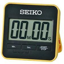 Nuevo genuino Seiko Digital Temporizador de cuenta regresiva y cronómetro con soporte-Amarillo