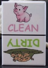 CLEAN / DIRTY PIG - Dishwasher Magnet. Unique Gift Idea!