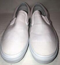 Vans Classic Slip On White Canvas Fashion Sneakers Men/Women Shoes