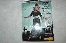 DEGUISEMENT COMTESSE TENEBRE ROBE  + COLERETTE 3/4/5 ANS COSTUME HALOWEEN NEUF