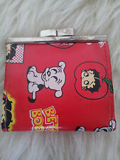 Muy Rara Vintage Super Lindo década de 1980 Mini Rojo Betty Boop Broche De Metal Cartera