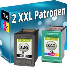 TINTE PATRONEN für HP 336+342 PhotoSmart 2575 C3100 C3180 Deskjet5440 PSC1510
