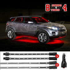 RED 12pc LED NEON UNDERGLOW INTERIOR LIGHT SOLID+BREATH+STROBE 2CHANNEL OUTPUT
