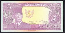 New listing Indonesia 5 Rupiah 1960 Unc P. 82, Banknote, Uncirculated
