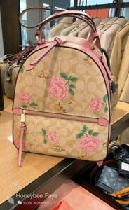 NWT Coach Jordyn Backpack In Signature Canvas With Prairie Rose Print