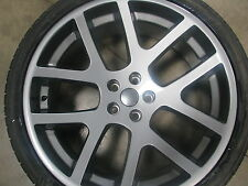 22 Viper SRT 10 Wheels & Tires Dodge Gray Stagger Rims Magnum 300C Challenger 24