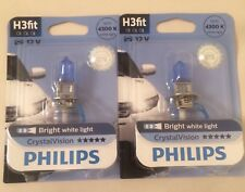 PHILIPS H3 CRYSTAL VISION UPGRADE BULBS H3 CRYSTAL VISION PHILIPS