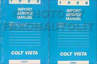 1988 Dodge Plymouth Colt Vista Shop Manual 2 Volume Set Original Repair Service
