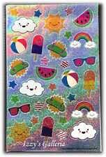TARGET One Spot Holographic Summer Clouds Ice Cream Stickers For Planner Addicts