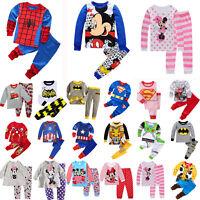 Kids Boy Girl Cartoon Sleepwear Outfit Baby Pajamas Sleepwear Nightwear Pj's Set
