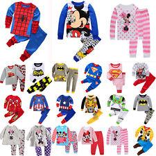 a216d57d4 Kids Boy Girl Cartoon Sleepwear Outfit Baby Pajamas Sleepwear Nightwear  Pj's Set