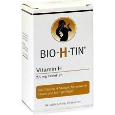 BIO-H-TIN Vitamin H 2,5 mg für 12 Wochen Tabletten 84St Tabletten PZN 9900432