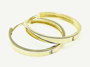 585 Gold Creolen Klappcreolen in der Größe 20,0 mm x 2,7 mm Breite 1 Paar