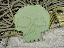 ill Gear eXtInCt v1 ill gear skull HOOK & LOOP Patch  old school GREEN