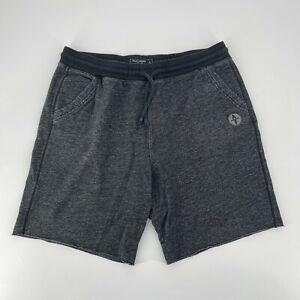 Abercrombie & Fitch Sweat Shorts Mens Size XL Fleece Logo Drawstring Gray Knit