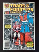 TRANSFORMERS UNIVERSE #4 MARVEL COMICS 1987 VF/NM NEWSSTAND