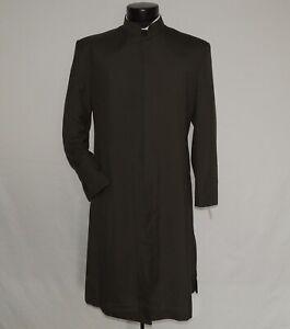 Dara Collection Men's Nehru Collar dark Green Zoot Suit jacket size 40 R