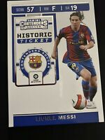 2019-20 Panini Chronicles Lionel Messi Contenders Historic Ticket SP Barcelona