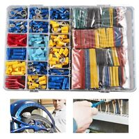 558pcs Car Electrical Wire Terminals Insulated Crimp Connectors Spade Kit Set UK