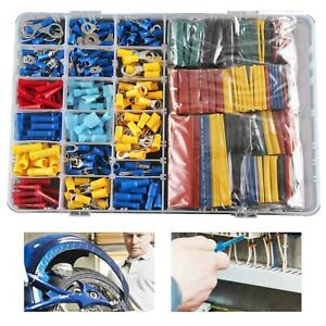 558pcs Car Electrical Wire Terminals Insulated Crimp Connectors Spade Kit Set UK
