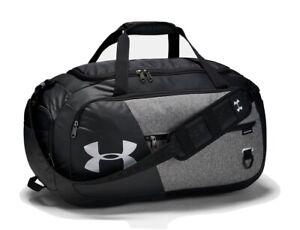 New UA Undeniable Duffle 4.0 Gym Bag Graphite Black Grey Under Armour 11.8x24x13