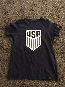 Girls Navy Blue Nike Shirt USA Size Small Or 7/8 #6
