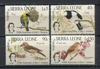 27606) Sierra Leone 1985 MNH New Song Birds 4v