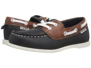 Carter's Navy Blue & Brown Boat Shoes Toddler Boy Size 7 Slip-on Shoe NEW