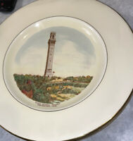 Rare Royal Winton Pilgrim Memorial Monument Plate Provincetown PA Vintage