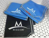 3 pc Set Mission ENDURACOOL Instant Cooling Fabric TOWEL 2/BLUE & 1/BLACK