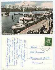 14837 - Friedrichshafen - Hafen - Fährschiffe - Echtfoto koloriert -AK, gelaufen